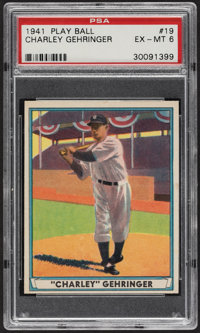 1941 Play Ball Charley Gehringer #19 PSA EX-MT 6