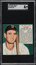Baseball Cards:Singles (1950-1959), 1952 Red Man Ted Williams #23A SGC Authentic....