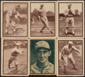 Baseball Cards:Lots, 1931 W517 Baseball Strip Card Collection (6) - Mostly HoFe...