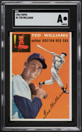 Baseball Cards:Singles (1950-1959), 1954 Topps Ted Williams #1 SGC Authentic....