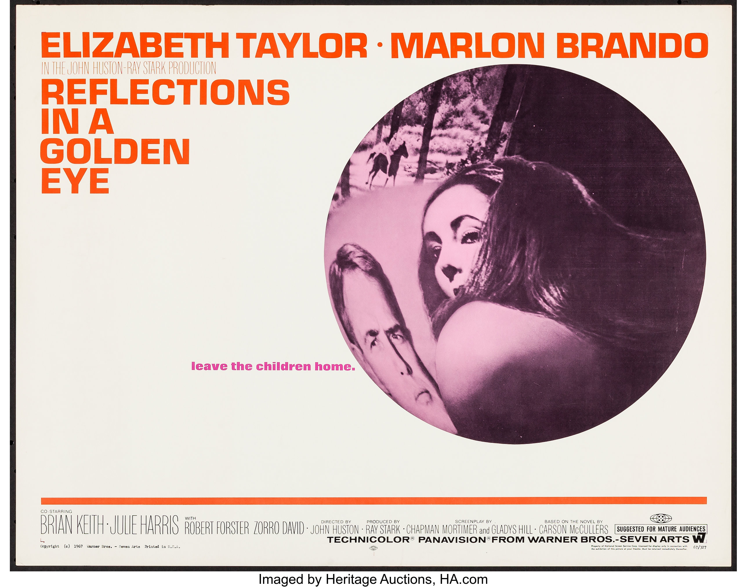 Reflections in a gloden eye Elizabeth Taylor movie poster print