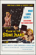 "Movie Posters:Horror, Curse of the Stone Hand (A.D.P., 1964). Folded, Very Fine. One Sheet (27"" X 41""). Horror.. ..."