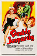 Movie Posters:Thriller, Double Jeopardy (Republic, 1955). Folded, Very Fine-.
