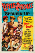 Movie Posters:Comedy, Little Rascals Stock Poster (Monogram, R-1950). Folded, Fi...