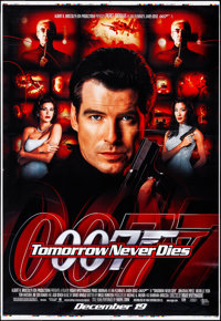 "Tomorrow Never Dies (MGM, 1997). Rolled, Very Fine-. Printer's Proof Bus Shelter (48"" X 70"") DS, Advance. Jame..."