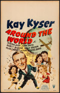 Movie Posters:Musical, Around the World & Other Lot (RKO, 1943). Very Fine-.