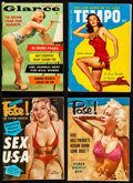 "Movie Posters:Sexploitation, Tempo & Other Lot (Pocket Magazines, 1954). Very Fine-.Magazines (4) (Multiple Pages, 4"" X 6"" & 4"" X 5.5"").Sexploitation.... (Total: 4 Items)"