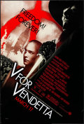 """Movie Posters:Action, V for Vendetta (Warner Brothers, 2005). Rolled, Very Fine-. One Sheet (27"""" X 40"""") SS Advance. Action.. ..."""