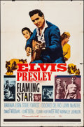 "Movie Posters:Elvis Presley, Flaming Star (20th Century Fox, 1960). Folded, Fine/Very Fine. OneSheet (27"" X 41""). Style B. Elvis Presley.. ..."