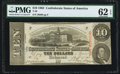 Confederate Notes:1863 Issues, T59 $10 1863 PF-19 Cr. 442 PMG Uncirculated 62 EPQ.. ...