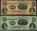 Obsoletes By State:Maryland, Cumberland, MD- Allegany County Bank $10 Jan. 4, 1860 and Nov. 7, 1862 Fine-Very Fine; Crisp Uncirculated.. ... (Total: 2 notes)