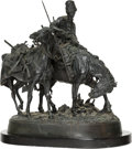 Sculpture, A Russian Bronze Group of Zaporezh Cossack After Battle . Cast from a model by Evgeni Alexandrovich Lanceray (Russian, 1848-...