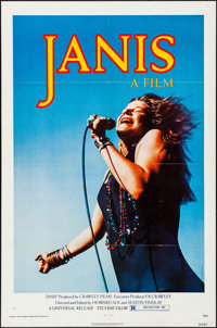 "Janis (Universal, 1975). Folded, Very Fine. One Sheet (27"" X 41""). Photo by Jim Marshall. Rock and Roll"