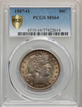 Barber Half Dollars, 1907-O 50C MS64 PCGS. PCGS Population: (45/21 and 1/4+). NGC Census: (44/24 and 1/0+). MS64. Mintage 3,946,600....