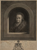 Sculpture, A Framed Etching of Tante de G. Dow by Gerard Dow. 14 x 11-1/4 inches (35.6 x 28.6 cm) (framed). ...
