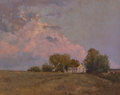 Fine Art - Painting, American, Peter Poskas (American, b. 1939). The Farmhouse. Oil onpanel. 9-1/2 x 12 inches (24.1 x 30.5 cm). Signed lower left:...