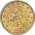 Territorial Gold , 1853 $20 Moffat & Co. MS62 PCGS. K-19, High R.5....