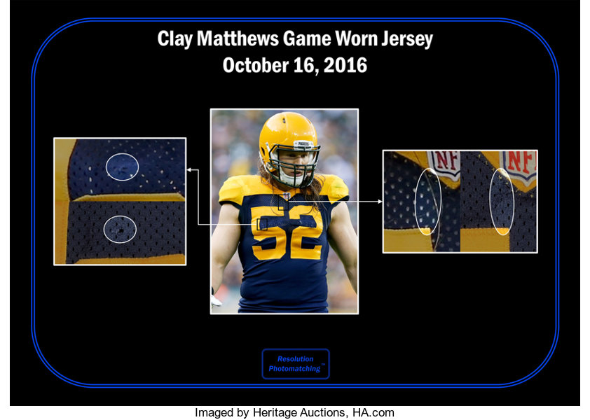 the latest 4d6be 8cfa9 2016 Clay Matthews Game Worn & Signed Green Bay Packers ...