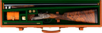 Cased and Engraved Armas Garbi Double Barrel Shotgun
