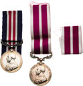 Militaria:Insignia, British George V Gallantry Awards: Meritorious Service Medal and Military Medal.. ... (Total: 2 Items)