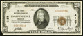 National Bank Notes:Missouri, Independence, MO - $20 1929 Ty. 1 The First NB Ch. # 4157 VeryFine.. ...