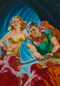 Original Comic Art:Illustrations, Earle K. Bergey (American, 1901-1952). Shadow Over Mars,Startling Stories cover, Fall 1944. Oil on ca...