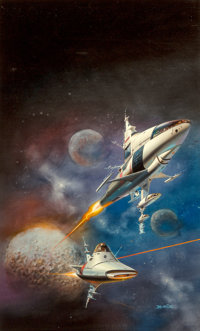 Boris Vallejo (American, b. 1941) Gateway paperback cover, 1977 Acrylic on board 25 x 15.5 in. (sight) Signed lower