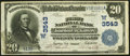 National Bank Notes:Kansas, Junction City, KS - $20 1902 Date Back Fr. 644 The First NB Ch. # (W)3543 Very Fine+.. ...
