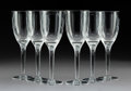 Glass, Six Lalique Frosted and Etched Clear Glass Angel Pattern Wine Stems with Two Original Fitted Boxes, post-1945. Marks: Lali... (Total: 6 Items)