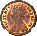 India:Princely States - Dhar, India: Dhar. Anand Rao III Proof 1/2 Pice 1887 PR64 Red and Brown NGC,...
