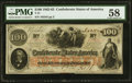 Confederate Notes:1862 Issues, T41 $100 1862 PF-20 Cr. 316A PMG Choice About Unc 58.. ...