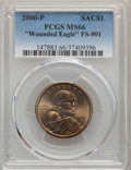 Sacagawea Dollars, 2000-P $1 Wounded Eagle, FS-901, MS66 PCGS. PCGS Population:(66/33). ...