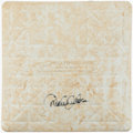 Autographs:Others, 6/15/2006 Derek Jeter Signed Game Used Second Base....