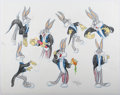 Animation Art:Production Drawing, Virgil Ross - Bugs Bunny Drawing Original Art (Warner Brothers,undated).. ...