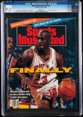 Basketball Collectibles:Publications, 1991 Michael Jordan Sports Illustrated - CGC 9.2, Pop Two with One Higher....