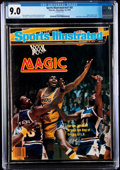 Basketball Collectibles:Publications, 1979 Magic Johnson First Professional Sports Illustrated - CGC 9.0, Pop One with None Higher....