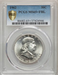 Franklin Half Dollars, 1962 50C MS65+ Full Bell Lines PCGS. PCGS Population: (267/19 and 15/0+). NGC Census: (26/3 and 0/0+). CDN: $800 Whsle. Bid...