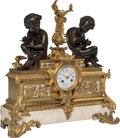 Clocks & Mechanical, A Raingo Frères Gilt Bronze and Marble Mantel Clock, Paris, mid-late 19th century. Marks: RAINGO FRES., A PARIS. 20 x 20...