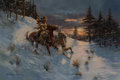 Paintings, Joe Rader Roberts (American, 1925-1982). A Cold Night Coming, 1977. Oil on canvas. 24 x 36 inches (61.0 x 91.4 cm). Sign...