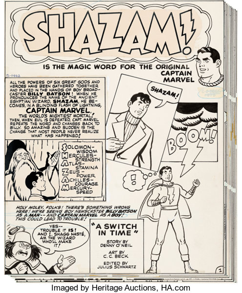 C  C  Beck Shazam #3 Lot of 2 Complete Stories Captain Marvel | Lot