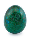 Lapidary Art:Eggs and Spheres, Chrysocolla Egg. DR Congo. 2.67 x 2.13 inches (6.77 x 5.42 cm). ...