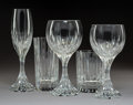Glass, A Thirty-Four-Piece Group of Baccarat Glassware, France, post-1975. Marks: BACCARAT, (goblet-decanter-cup), FRANCE. ... (Total: 34 Items)