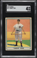 Baseball Cards:Singles (1940-1949), 1941 Play Ball Jimmie Foxx #13 SGC VG/EX 4....
