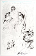 Original Comic Art:Miscellaneous, John Buscema Punisher: War Zone Unfinished or Preliminary Splash Page Original Art (Marvel Comics, 1990s)....