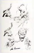 Original Comic Art:Sketches, John Buscema Swamp Creature Character Study Page Original Art (c. 1990s). ...