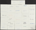 Autographs:Index Cards, Hall of Fame Signed Index Card Lot of 32....