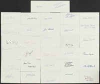Hall of Fame Signed Index Card Lot of 32
