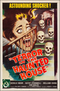 Movie Posters:Horror, Terror in the Haunted House (Howco, 1959). Folded, Very Fi...