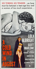 """Movie Posters:Drama, A Cold Wind in August (United Artists, 1961). Folded, Very Fine+. International Three Sheet (41"""" X 79""""). Drama.. ..."""