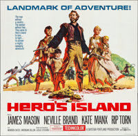 "Hero's Island (United Artists, 1962). Folded, Very Fine. Six Sheet (80"" X 79""). Adventure"
